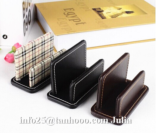 Office leather business name card holder/card case