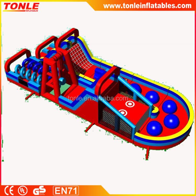 2016 hot sale inflatable Ninja Warrior Obstacle Course/ inflatable obstacle challenge for sale
