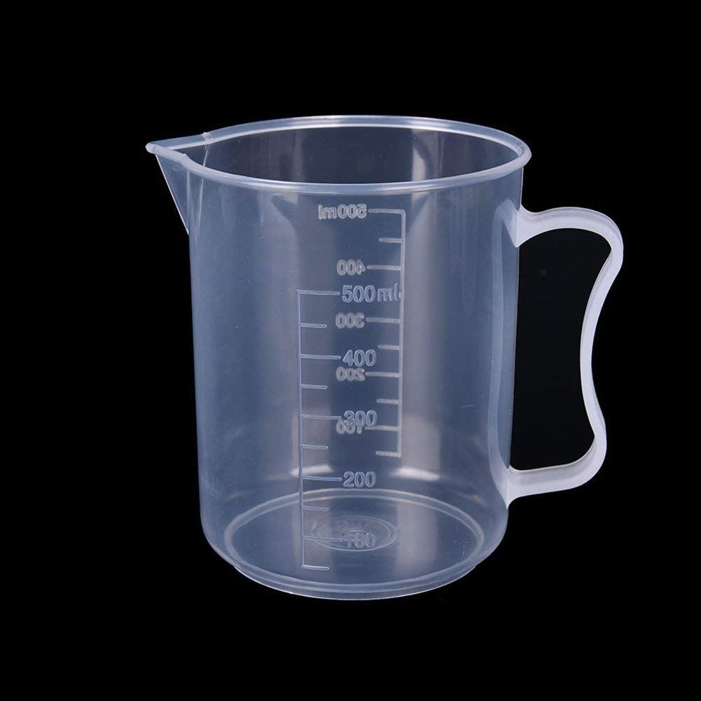 Plastic Measuring Cup Jug Pour Spout Surface Kitchen Tool Supplies Prepware Accessories 20/30/50/100/250/300/500/1000ML(500ML,With handle)