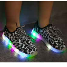 2016 Autumn new Children Shoes With LED Light Boys Girls Casual Sport Sneakers Little Kids Light