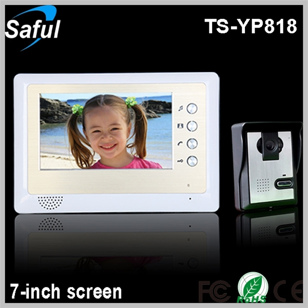 Saful TS-YP818 1v1 cheapest 7-inch TFT LCD wired video door phone peephole video door phone dvr door camera