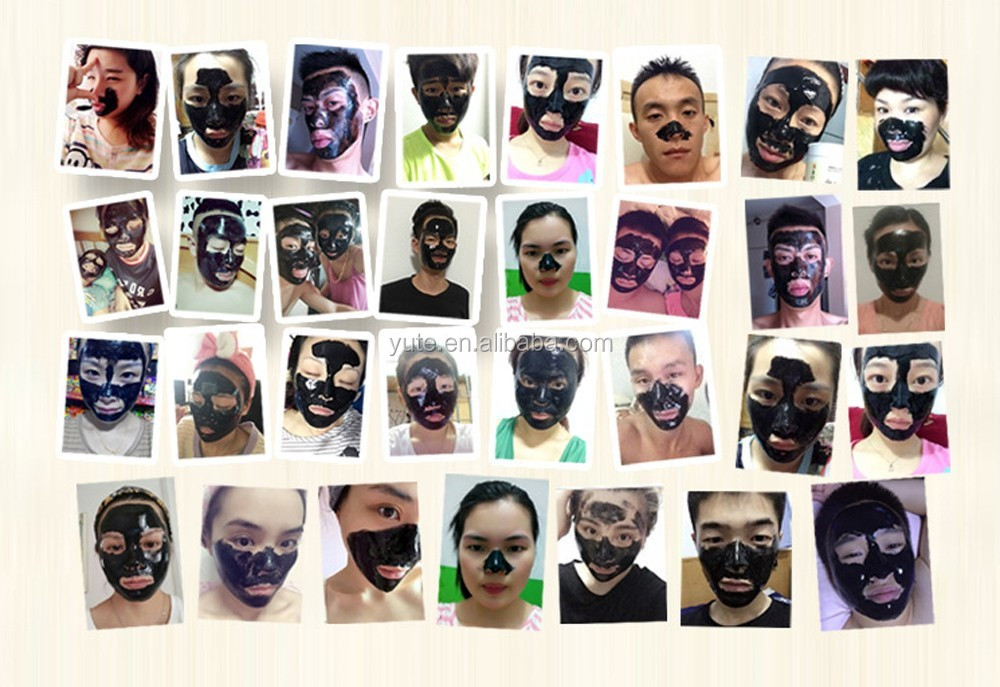 KOOGIS Bamboo Charcoal to Tear Pull Black Mask for whole Face Blackhead Remove Tightening Skin Shrink Pore Peel Mask