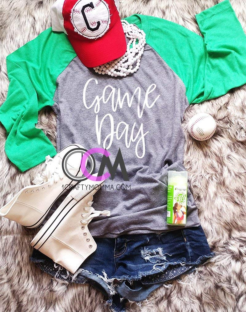 GAME DAY Shirt, Football Raglan, Game Day Baseball Raglan, Football Mom Shirt- Raglan