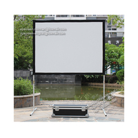 XYSCREEN 3d mini video projector screen 100 inch fast folding projection screen