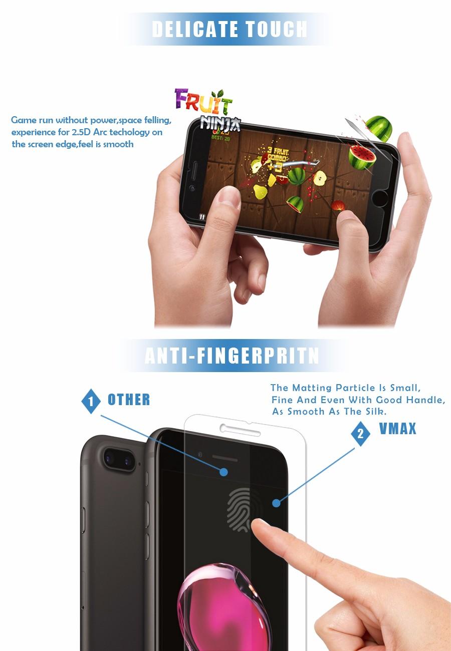 2.5d à prova de estilhaçamento filme tela protetor de tela do telefone para o iphone 7/7 plus