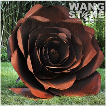 Large Garden Decorative Flower Rusty Metal Rose Sculpture Buy Metal Rose Metal Rose Sculpture