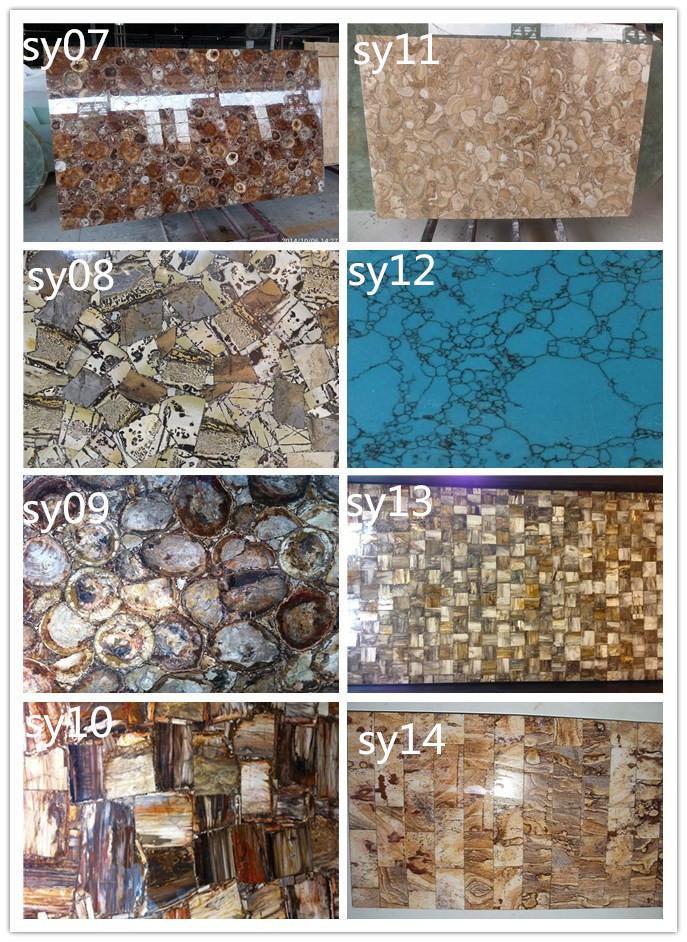 Fossiel hout stenen aanrecht hout jade slb versteend hout tafelblad buy product on - Buitenste stenen bar ...