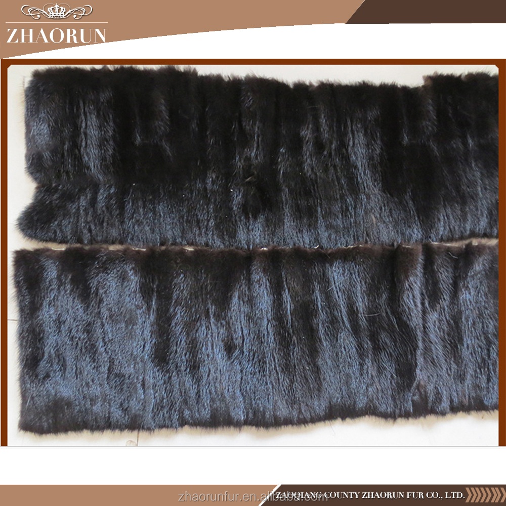 Wholesale Animal Fur Plate , 100% Real Dyed Mink Fur Plate
