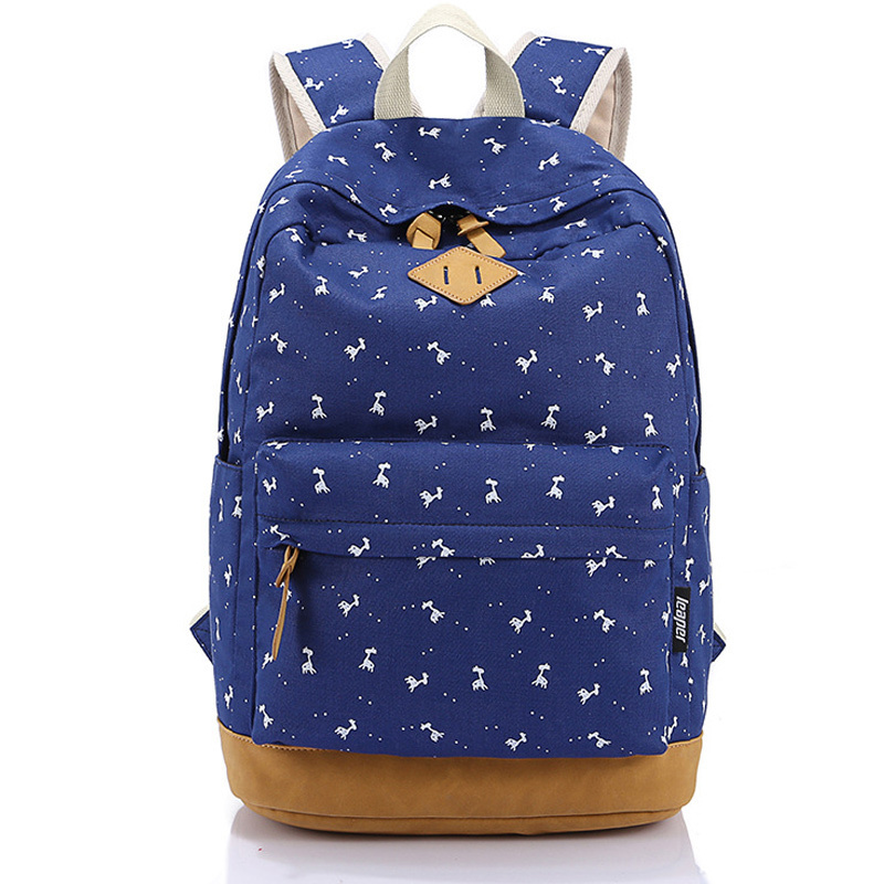3f5311a627e0 Get Quotations · Cute Fashion Pink Preppy School Backpacks for Teenage  Girls Mochila Escolar Nubuck Leather Canvas Printing Backpack