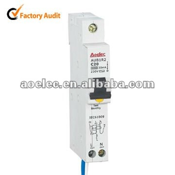 AUB1R2 high breaking capacity signal RCBO circuit breaker