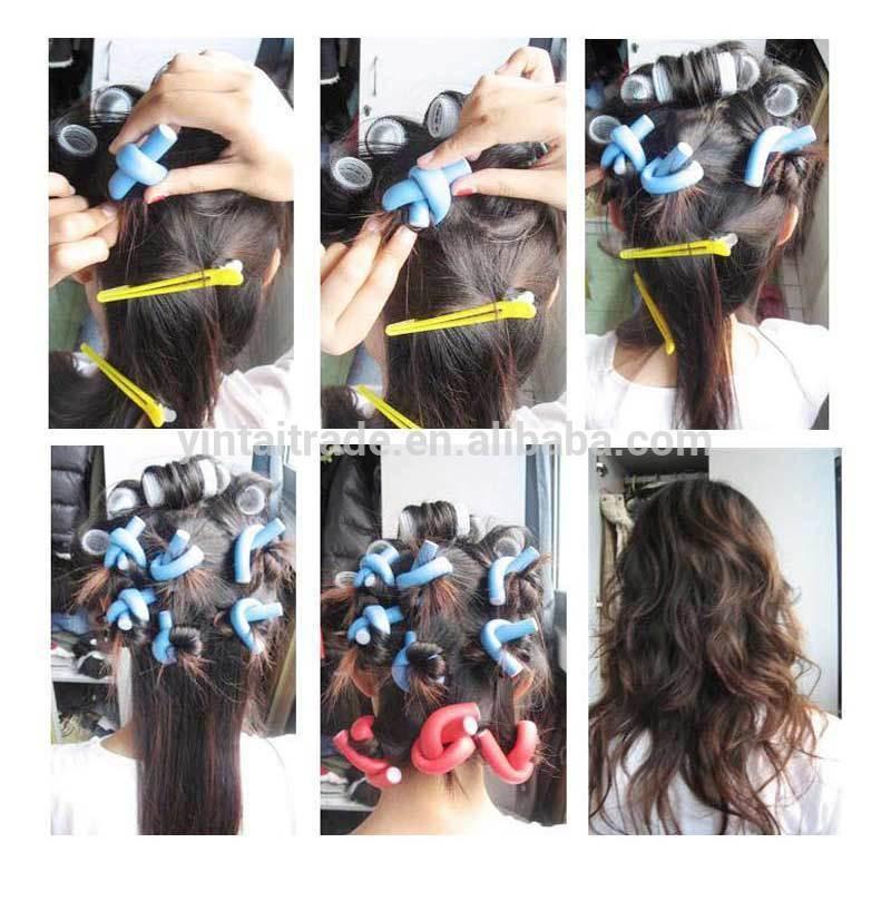 Promotional Twist Hair Rollers Bendable Foam Hair Wire