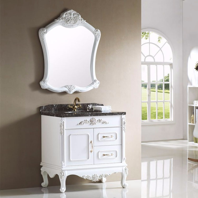 Chinese hot sale classic furniture pvc bathroom cabinet with mirror