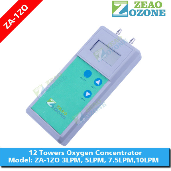 Oxygen concentration indicator for monitoring O2 concentrator purity