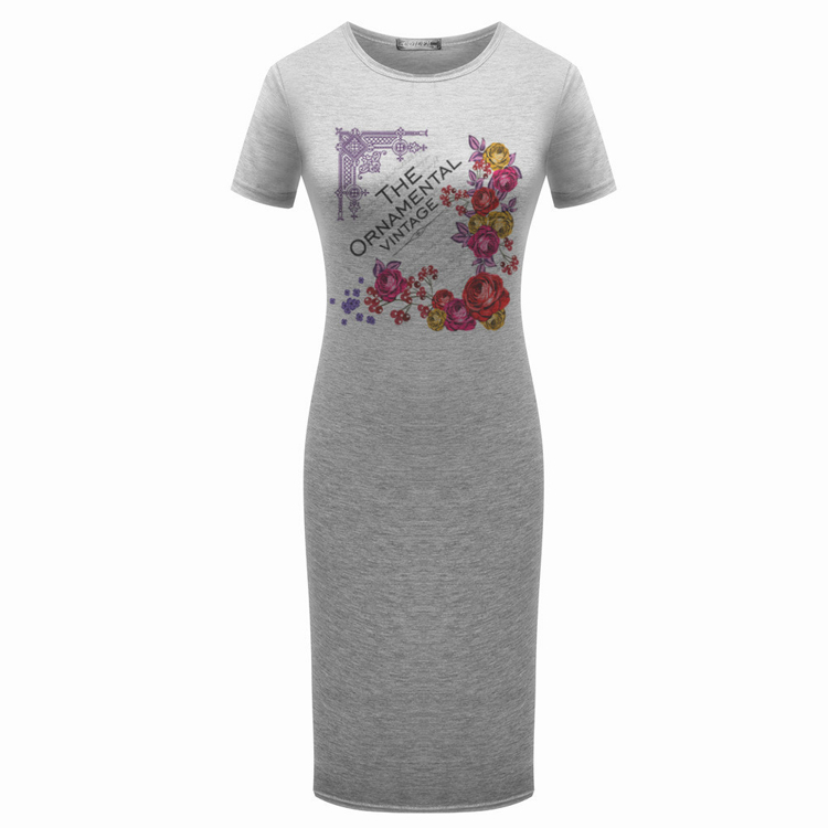 China Wholesale ladies casual dresses all types oem printing women dress model