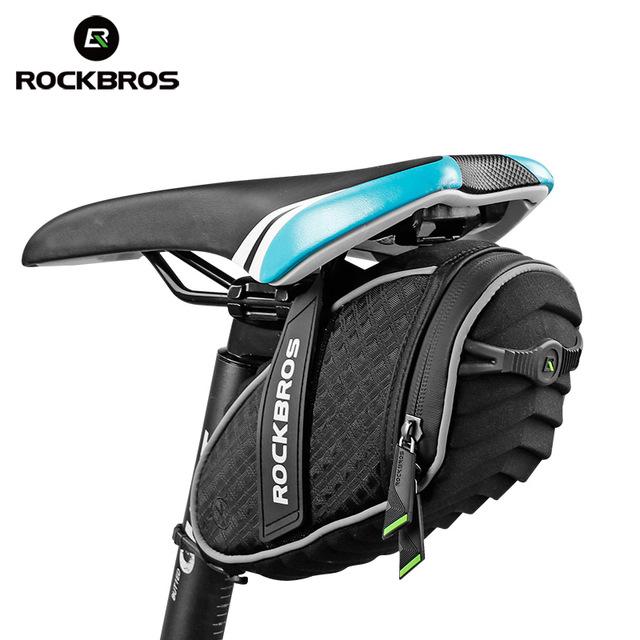 RockBros Bicycle Road Bike Mini Portable Small Tail Bag Saddle Bag Black