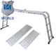 6 step ladder aluminum 5m telescopic retractable ladders