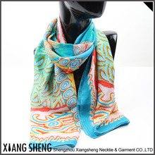 Wholesale Custom Design Fashionable Lady Scarf,Silk Scarf