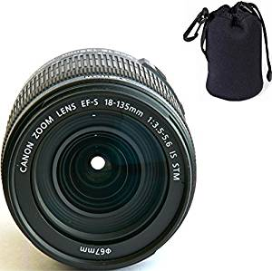 Canon 18-135mm IS STM Lens (WHITE BOX) + Lens Carrying Pouch