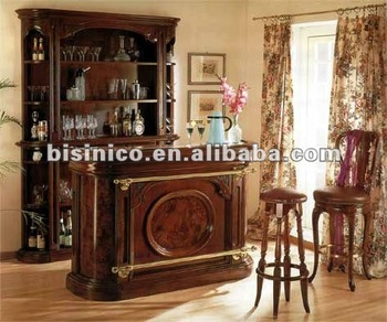Antique Solid Wood Home Bar Set Bar Furniture Bar Table And Stool