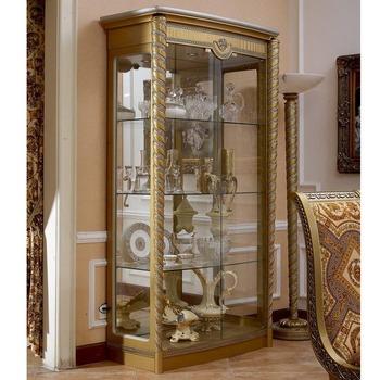 Yb16 18e Eeuw Barokke Klassieke Woonkamer Vitrinekasteuropese Antieke Gold Houten Hand Made Wijn Vitrinekast Buy Antieke Houten Goud Wijn