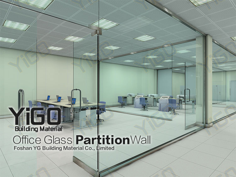 Yg P022 Glass Restaurant Partition Glass Partition Wall