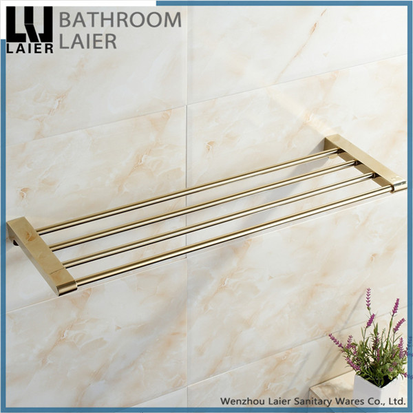 compact gold plated towel rack cheap bath towel organizer