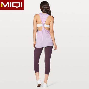 0839e821ea74a9 Wholesale Breathable Women Yoga Vest Gym Tank Tops Custom Logo Fitness  Ladies Girls Running Workout Tank