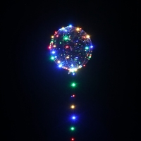 3m 30LEDs Four Color Light Transparent Bobo Balloon For Birthday Christmas Day Wedding Party Celebrate DIY Decoration Add Gift