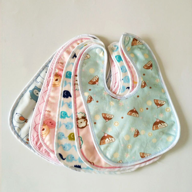 Hot Sell IN US Waterproof Bibs for Children Easily Wipes Clean Soft Cotton Polyester Baby Neck Scarf Bib