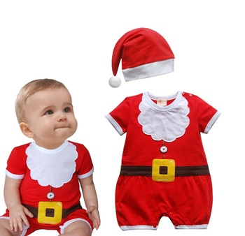 Fz070 Baby Boys Girls Red Christmas Clothes Baby Clothes Set Buy
