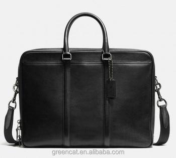 Designer Horse Logo Black Sling Messenger Bag For Branded Genuine Leather Men Office Bags A100031 Handbags