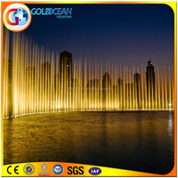 41x15m Splendid Musical Water Fountains With Multicolor Led Lights