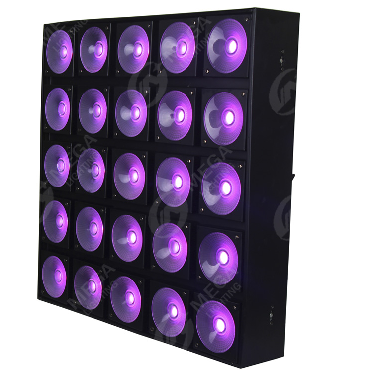 Guangzhou factory 25leds 30w matrix 3in1 square stage light with long life span