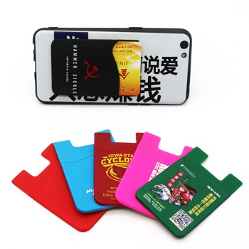 3M Adhesive Cell Phone Housing Adhesive Card Holder Silicone Credit Card Holder