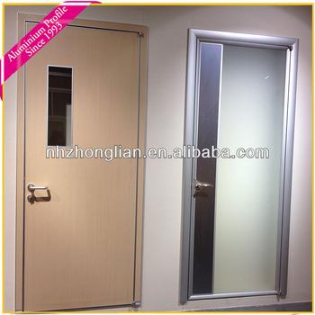 aluminium extrusion door frame with brilliant brushed colors aluminum door poster
