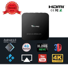 TX3 PRO Android 6.0 Smart TV Box, Amlogic S905X Quad-core 1GB+8G Support Dual Wifi 4K H.265 Kodi IPTV