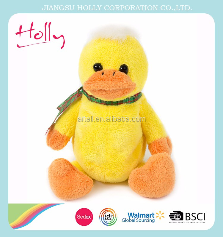 High quality best made big yellow duck plush toy with low price