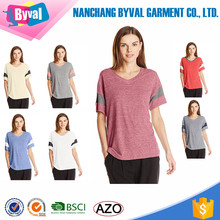 Eco t shirts Wholesale Womens Blank Football Sports Jersey V Neck Comfortable Dri Fit Tops Retail