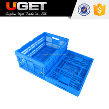 Recyclable Stackable Vented Folding Plastic Soda Crate