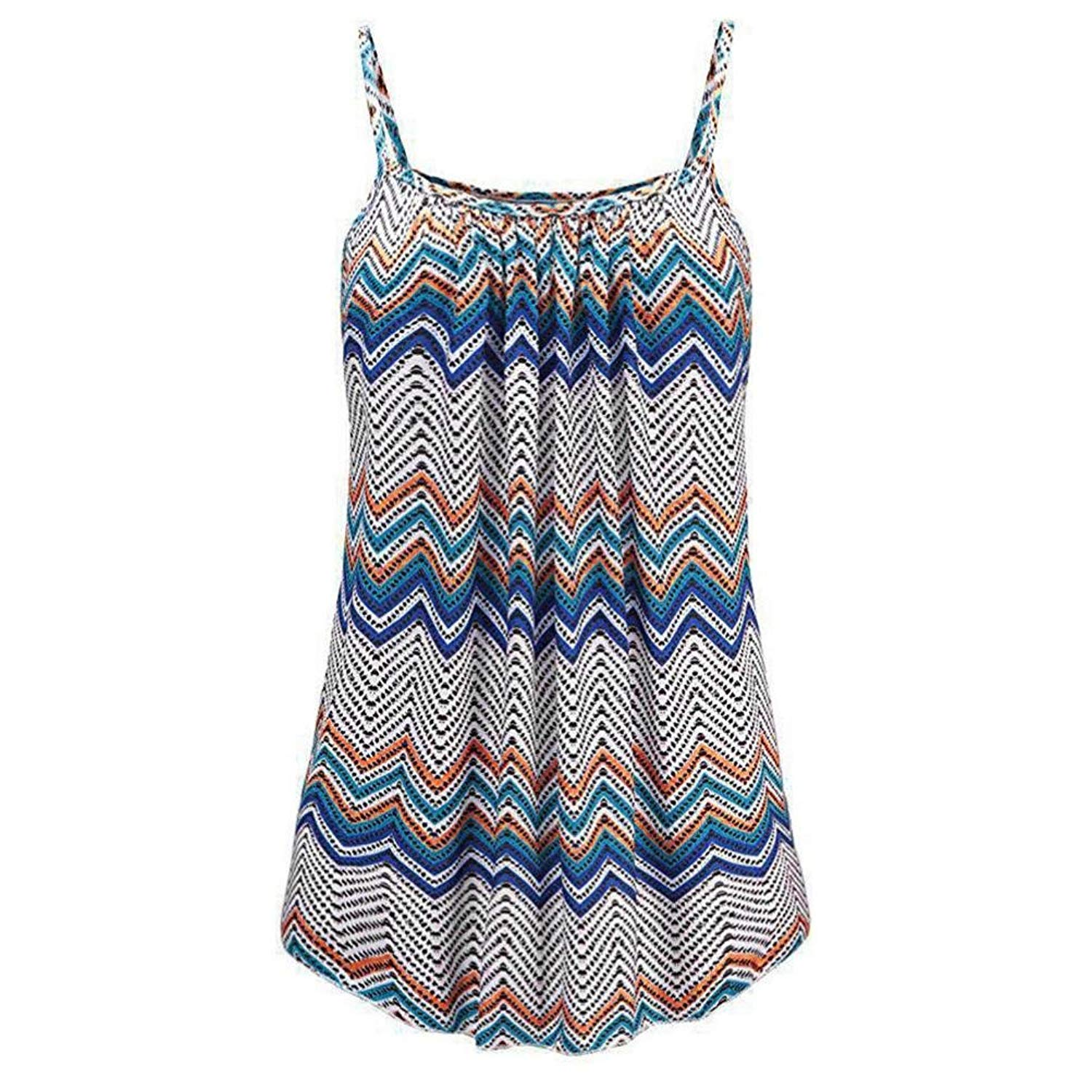 BCDshop Tanks Women Lady Casual Print Sleeveless Tank Tops Camis Summer Clothes Shirts Blouse Vest