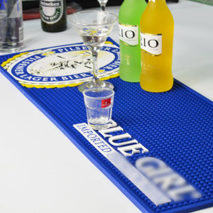 Branded Logo custom black pvc bar mat
