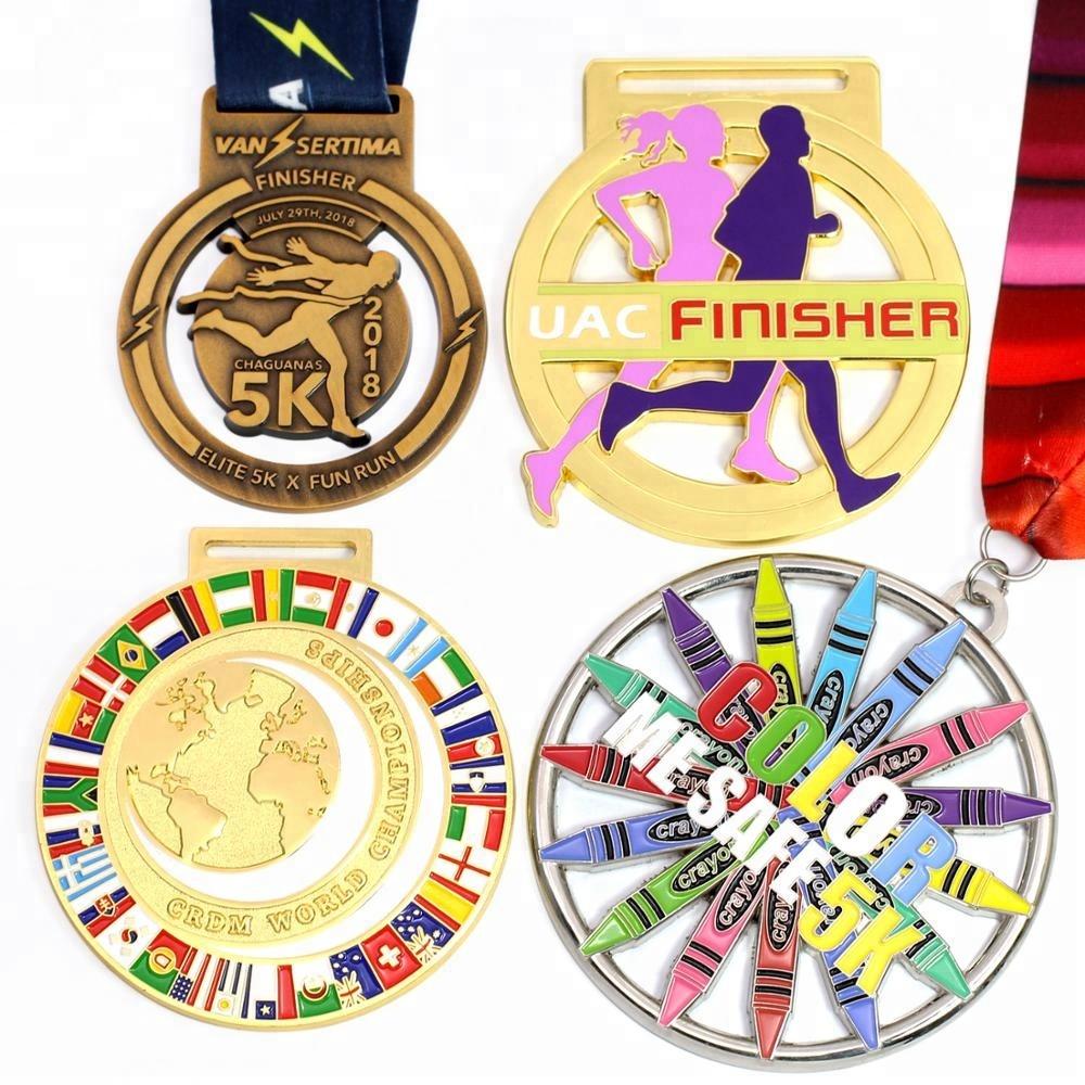 Wholesale Cheap Custom Design Your Own Blank Zinc Alloy 3d Gold Metal Award  Marathon Running Sport Medal Ribbon - Buy Medal,Sport Medal,Award Sport