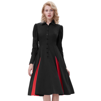 Belle Poque Retro Vintage Victorian Style Long Sleeve Shirt Collar