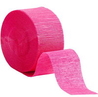 Various Color Crepe Paper Streamers For Birthday Party And Festival Party Decoration