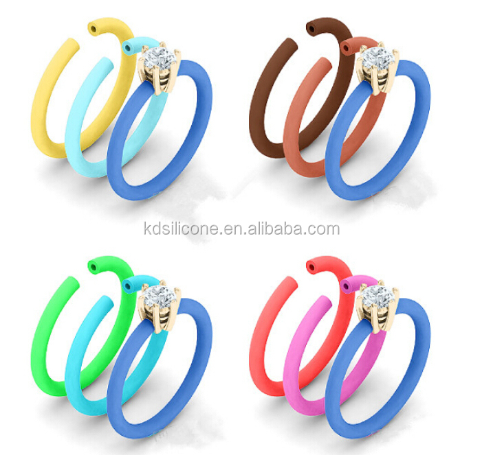 Hotbest Selling New Design Ring Jewelry Beautiful Silicone