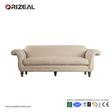 ENGLISH REGENCY STYLE UPHOLSTERED FURNITURE LIVING ROOM ROLL ARM SOFA(OZ-FS-2032)