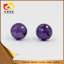 special design sphere shape loose amethyst quartz gemstones for jewelry making