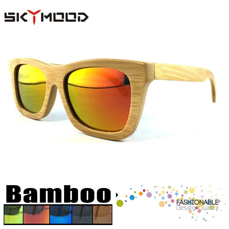 d577721416 Anteojos brasil Lentes polarizadas para los hombres bambu la mujer Madera  Gafas de sol de bambú