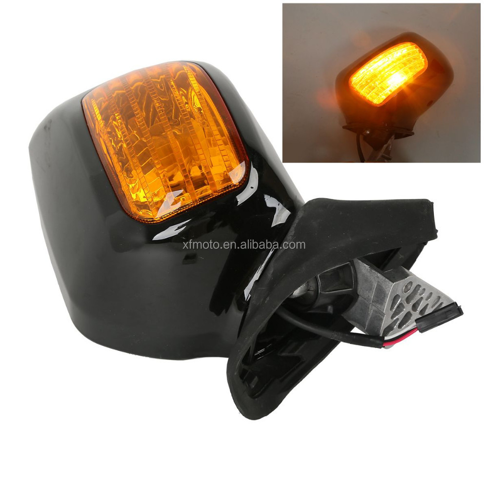 Black Rear View Mirror Turn Signals For Honda Goldwing GL 1800 F6B 2013-2016