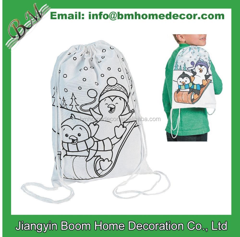 Color Me Bag - Coloring Bag - Coloring Backpack - Drawstring Bag ...